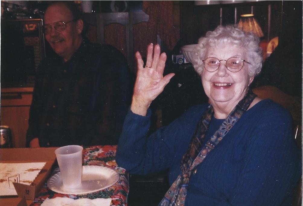 Granny Waving